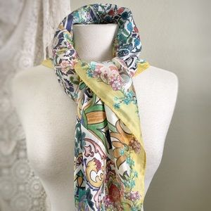 JOHNNY WAS | Yellow Floral Spanish Tile SCARF